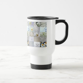 White photography collage travel mug