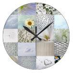 White photography collage wallclock