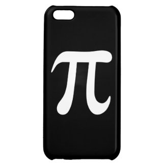 White pi symbol on black background cover for iPhone 5C