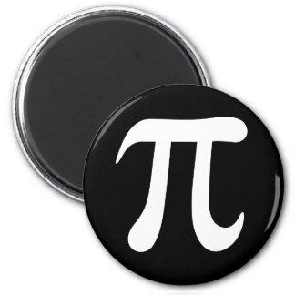 White pi symbol on black background refrigerator magnet