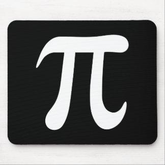White pi symbol on black background mouse pad