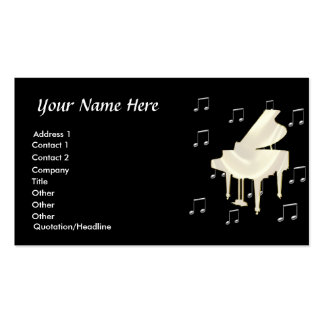 White Piano Business Card