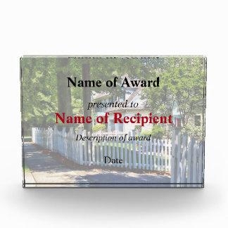 White Picket Fence Acrylic Award