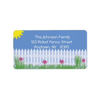 White Picket Fence Address Label