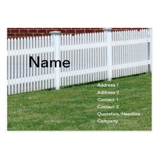 white picket fence large business cards (Pack of 100)