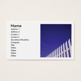White Picket Fence Business Card