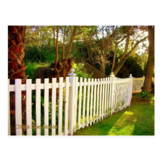 White Picket Fence Postcard
