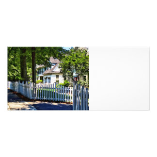 White Picket Fence Rack Card