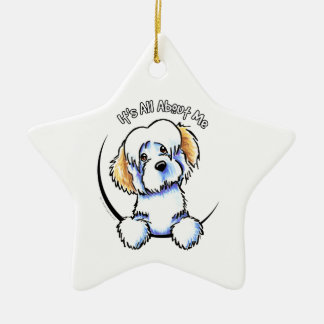 White Piebald Havanese IAAM Ceramic Ornament