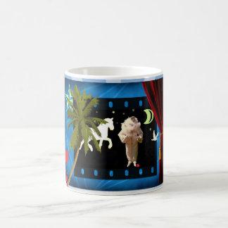 White pierrot with unicorn magic mug