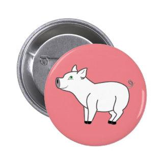White Pig Button