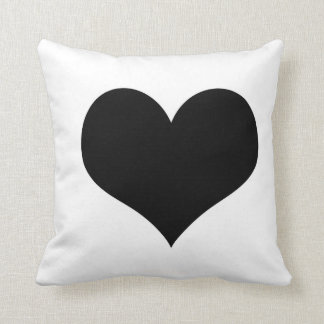 White Pillow  black heart