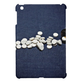 White pills glass bottle iPad mini covers