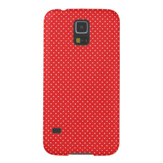 White Pin Dots on Red Galaxy S5 Case