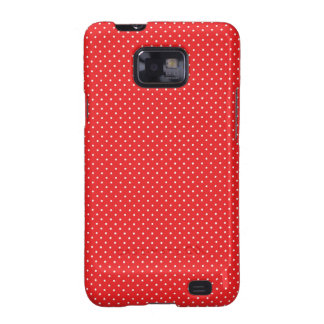 White Pin Dots on Red Samsung Galaxy S2 Cover