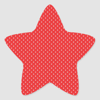 White Pin Dots on Red Star Stickers