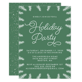 White Pine Holiday Party Invitation