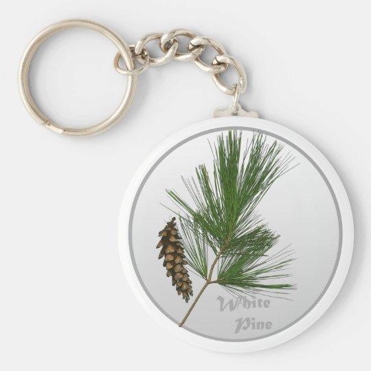 White Pine Tree Keychain