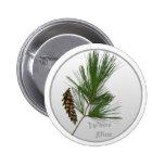 White Pine Tree Pinback Button