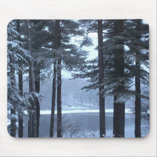 White Pines in Blue Light --- Mouse Pad