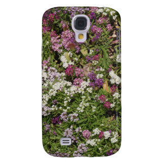 White, Pink And Mauve Flowers Galaxy S4 Case