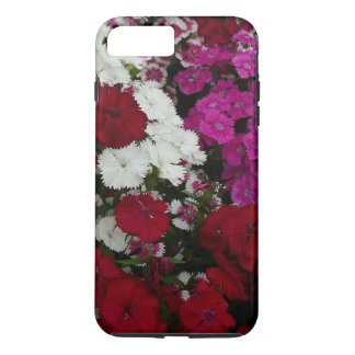 White, Pink and Red Dianthus Floral Photography iPhone 8 Plus/7 Plus Case