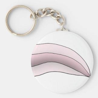 White/Pink Axolotl Tail Key Chains