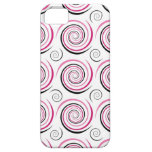 White Pink Black Swirl Design iPhone 5 Cases
