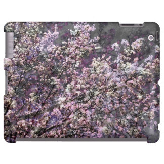 White Pink Cherry Blossoms iPad Case