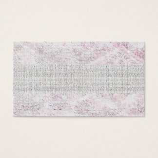 White Pink Elegant Lace Textured Business Cards