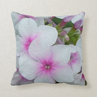 White Pink Lavender Blossoms Pillow