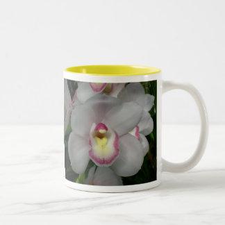 White Pink Orchid Mug
