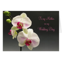 White pink orchids Thank you Mother for my Wedding