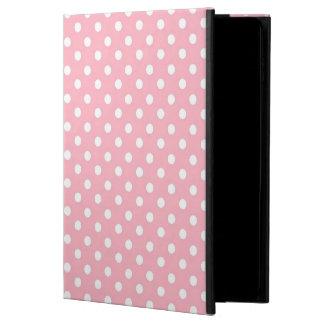 White Pink polka dot pattern iPad Air 2 case