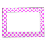 White Pink Polka Dots - Girly Magnetic Frame