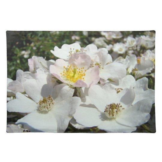 White Pink Rose Flower Bouquet Place Mats custom