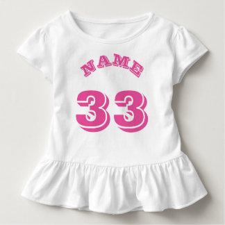 White & Pink Toddler | Sports Jersey Design Toddler T-shirt