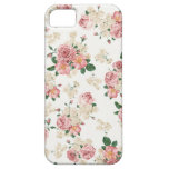 White & Pink Vintage Floral iPhone 5 Case