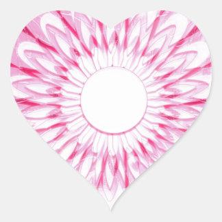 White PINK Wheel Chakra mandala Decorations GIFTS Heart Stickers