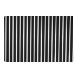 White Pinstripe/Black Pinstripe Laminated Placemat