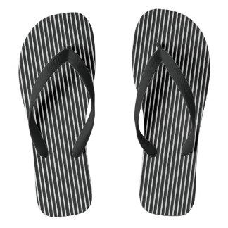 White Pinstripe Flip Flops