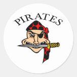 White Pirates Cartoon Sticker
