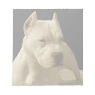 White Pitbull dog Notepad
