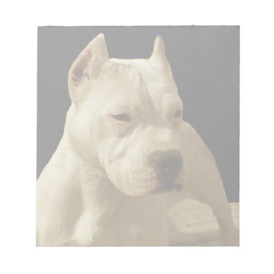 White Pitbull dog Notepad