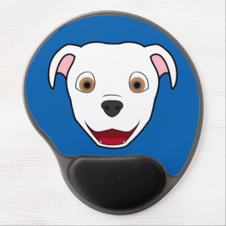 White Pitbull Face Gel Mouse Pad