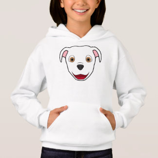 White Pitbull Face Hoodie