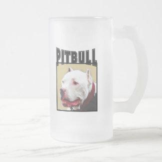 White Pitbull Frosted mug