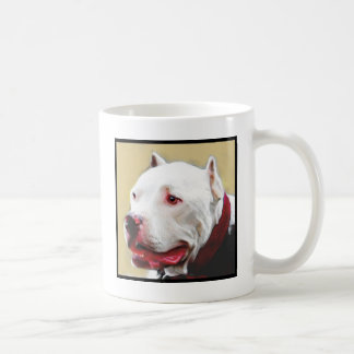 White Pitbull mug