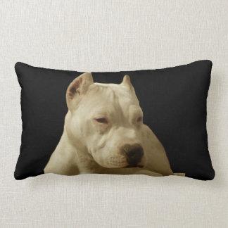 White Pitbull Terrier Lumbar Pillow