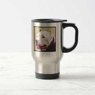 White Pitbull travel mug